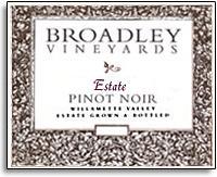 Vv Broadley Vineyards Pinot Noir Estate Willamette Valley