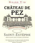 2012 Chateau de Pez Saint-Estephe