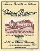 2013 Chateau Bouscaut Pessac Leognan Blanc