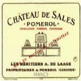 2010 Chateau De Sales Pomerol