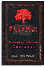 2008 Beckmen Vineyards Grenache Purisima Mountain Vineyard Santa Ynez Valley (Pre-Arrival)