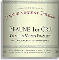 2009 Domaine/Maison Vincent Girardin Beaune Vigne Franches