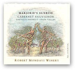 1998 Robert Mondavi Winery Cabernet Sauvignon Marjorie Sunrise Oakville District