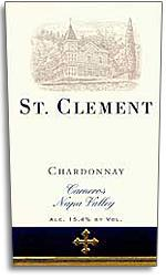1992 St. Clement Vineyards Chardonnay Carneros Napa Valley