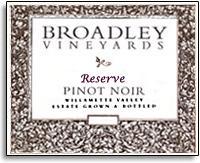 2012 Broadley Vineyards Pinot Noir Reserve Willamette Valley
