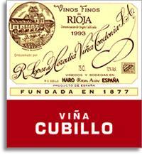 2003 R. Lopez de Heredia Vina Cubillo Crianza Rioja