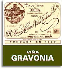 2003 R. Lopez de Heredia Vina Gravonia Crianza Blanco Rioja