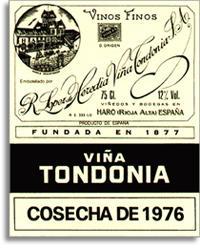1981 R. Lopez de Heredia Vina Tondonia Blanco Gran Reserva Rioja