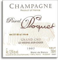 NV Pascal Doquet Blanc De Blancs Grand Cru Le Mesnil Sur Oger