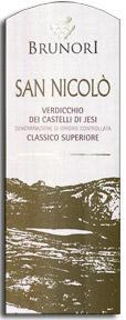 Vv Brunori Verdicchio Dei Castelli Di Jesi Classico San Nicolo