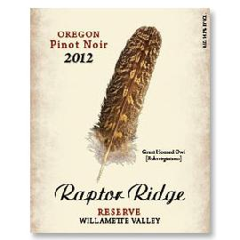 2006 Raptor Ridge Winery Pinot Noir Reserve Willamette Valley
