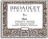 2012 Broadley Vineyards Pinot Noir Shea Vineyard Willamette Valley