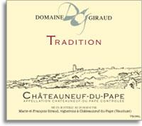 2014 Domaine Giraud Chateauneuf-du-Pape Tradition