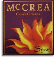 2004 Mccrea Cellars Syrah Cuvee Orleans Yakima Valley