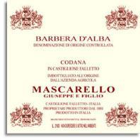 2005 Giuseppe Mascarello e Figlio Barbera d'Alba Superiore Codana