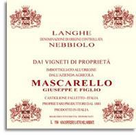 2010 Giuseppe Mascarello E Figlio Nebbiolo Langhe