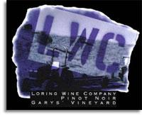 2010 Loring Wine Company Pinot Noir Garys' Vineyard Santa Lucia Highlands