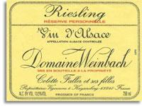 2014 Domaine Weinbach Riesling Reserve Personnelle