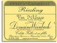 Vv Domaine Weinbach Riesling Cuvee Saint Catherine