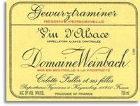 2010 Domaine Weinbach Gewurztraminer Reserve Personnelle