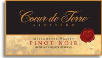 2010 Coeur de Terre Pinot Noir Renelle's Block Reserve Willamette Valley
