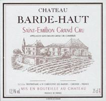 2013 Chateau Barde-Haut Saint-Emilion
