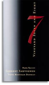 """2009 Vineyard 7 & 8 Cabernet Sauvignon """"7"""" Spring Mountain District"""