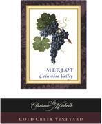 2011 Chateau Ste. Michelle Merlot Cold Creek Vineyard Columbia Valley