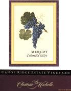 2010 Chateau Ste. Michelle Merlot Canoe Ridge Estate Horse Heaven Hills