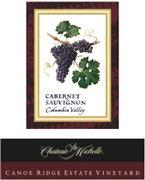 2008 Chateau Ste. Michelle Cabernet Sauvignon Canoe Ridge Estate Vineyard Horse Heaven Hills
