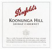 Vv Penfolds Wines Koonunga Hill Shiraz Cabernet South Australia