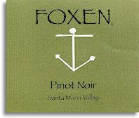 2012 Foxen Winery Pinot Noir Santa Maria Valley