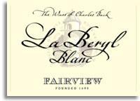2012 Fairview Chenin Blanc La Beryl Straw Wine Blanc Paarl