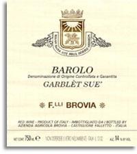 2008 Fratelli Brovia Barolo Garblet Sue