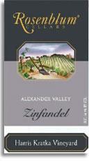 1997 Rosenblum Cellars Zinfandel Harris Kratka Vineyard Alexander Valley
