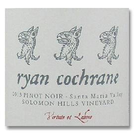 2013 Ryan Cochrane Pinot Noir Solomon Hills Vineyard