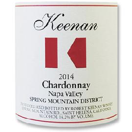 2014 Robert Keenan Winery Chardonnay Spring Mountain District