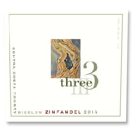 2014 Three Wine Company Zinfandel Bigelow Vineyard Contra Costa