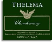 2009 Thelema Mountain Vineyards Chardonnay Stellenbosch