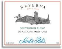 2011 Vina Santa Rita Sauvignon Blanc Reserva Casablanca Valley