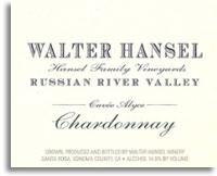 2012 Walter Hansel Winery Chardonnay Cuvee Alyce Russian River Valley