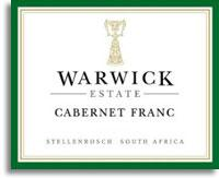 2004 Warwick Estate Cabernet Franc Stellenbosch