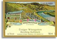 2010 Alfred Merkelbach Urziger Wurzgarten Riesling Kabinett