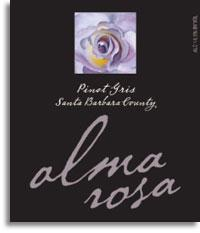 2012 Alma Rosa Winery And Vineyards Pinot Gris Santa Barbara County