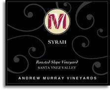 2013 Andrew Murray Vineyards Syrah Roasted Slope Vineyard Santa Ynez Valley