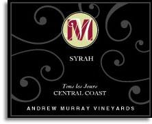2013 Andrew Murray Vineyards Syrah Tous Les Jours Central Coast