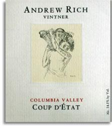 2010 Andrew Rich Wines Coup d'Etat Red Wine Columbia Valley