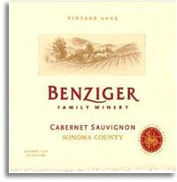 2008 Benziger Family Winery Cabernet Sauvignon Sonoma County