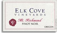 2011 Elk Cove Vineyards Pinot Noir Mount Richmond Willamette Valley