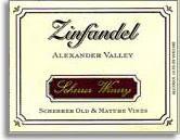 2012 Scherrer Winery Zinfandel Old And Mature Vines Alexander Valley